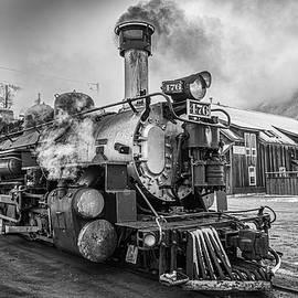 Steam Train Resting in Silverton CO by Gareth Burge Photography
