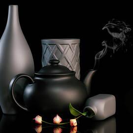 Steaming Tea Kettle Still Life by Tom Mc Nemar