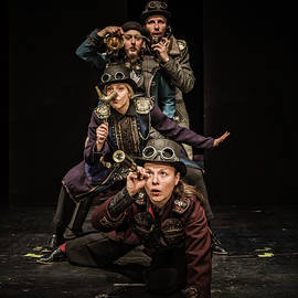 Steampunk, Actors Pose and Theater Play by Silvijo Selman