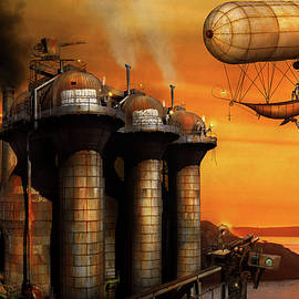 Steampunk - Dystopia - The outpost by Mike Savad