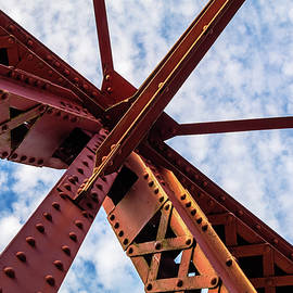 Steel Girder and Blue Sky by Catherine Avilez