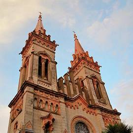 Steeples towers and windows of Gothic church Cathedral of Mother of the God Batumi Georgia  by Imran Ahmed