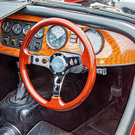 Steering wheel and instruments 1986 Morgan Plus 8 roadster. by Christopher Edmunds
