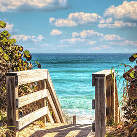 Step Down onto the Beach by Debra and Dave Vanderlaan
