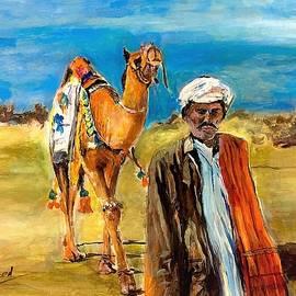 Steps on sand by Khalid Saeed