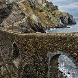Steps to San Juan de Gaztelugatxe by Joan Carroll