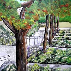 Steps To The Garden JP Getty Museum by Irving Starr