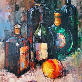 Still life bottles by Narek Qochunc