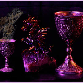 Still Life Of Dragon With Chalis by Constance Lowery