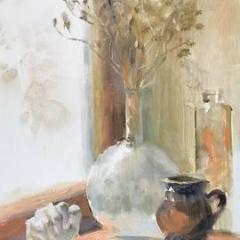 Still life on the windowsill by Anastasiia Chernenko