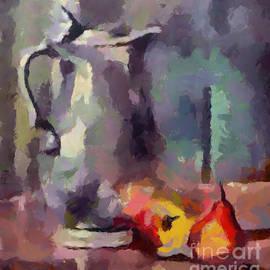 Still Life With A Tin Jug by Dragica Micki Fortuna