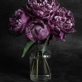 Still life with fresh peonies by Jaroslaw Blaminsky