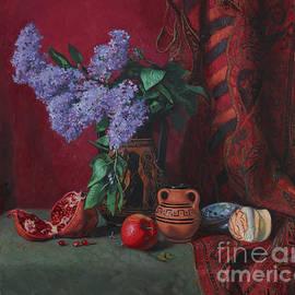 Still life with lilacs by Simon Kozhin
