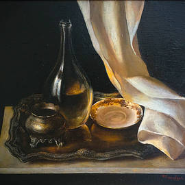 Still Life with metal and glass  by Felix Freudzon