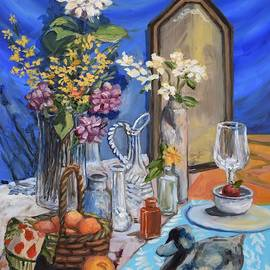 Still Life With Mirror by Eileen Patten Oliver