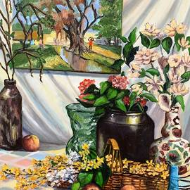 Still Life With Spring Flowers by Eileen Patten Oliver