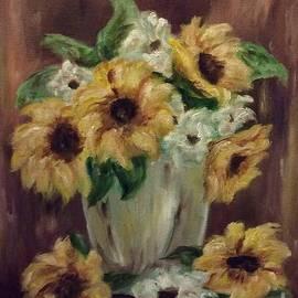 Still Life With Sunflowers  by Cheryl Pettigrew