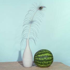 Still Life with Watermelon - 120 Film Print by Bruce Davis