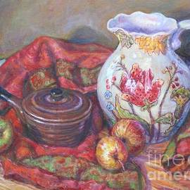 Still Life With White Pitcher  by Veronica Cassell vaz