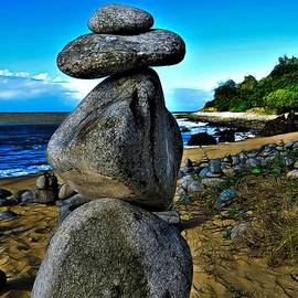 Stone Cairn Formations North of Cairns Queensland by Joan Stratton
