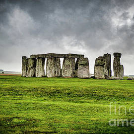 Stonehenge in Storm by Marty Faulkner