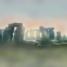 Stonehenge in the Mist of Dawn by Angela Davies