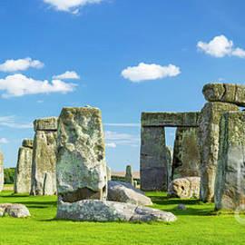 Stonehenge neolithic stone circle, England by Neale And Judith Clark