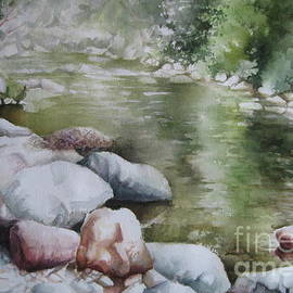 Stones at the river by Elena Oleniuc