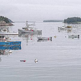 Stonington Fishing Boats by Marty Saccone