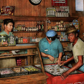 Store - Picking out a soda 1938 by Mike Savad