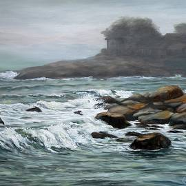 Foggy Day At Old Garden Beach by Eileen Patten Oliver