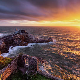 Storm at sunset in Portovenere by Giovanni Laudicina
