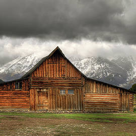 Stormy Day at the Moulton Barn by Donna Kennedy