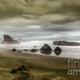 Stormy Oregon Coast by Mitch Shindelbower