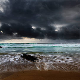Stormy Seas Bedruthan Steps by Maggie McCall