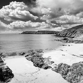Stormy skies over Gara Rock beach, Devon by Justin Foulkes