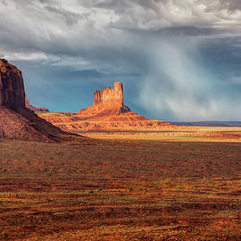 Stormy Weather At Monument Valley  by Harriet Feagin Photography