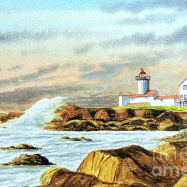 Stormy Weather Eastern Point Lighthouse Gloucester MA by Bill Holkham