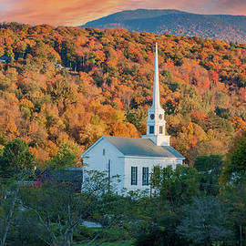 Stowe Vermont at Sunset by Jeff Folger