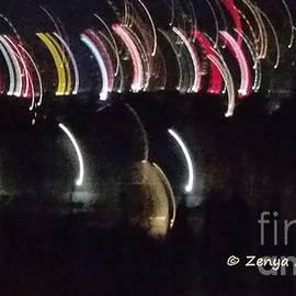 Strange lights in the night sky by Zenya Zenyaris