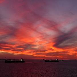 Strange Sunset by Ocean View Photography