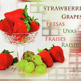 Strawberry-Grape Still Life  Art by Regina Geoghan