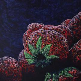 Strawberry Nocturne original painting by Sol Luckman