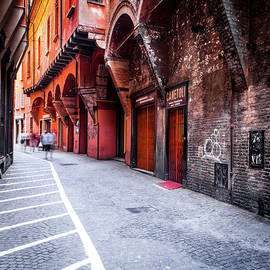 Street in Bologna Italy by Alexey Stiop