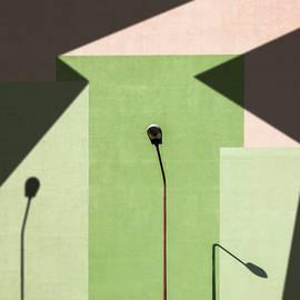 Street Lamp and Shadows Creative Minimal by Arro FineArt