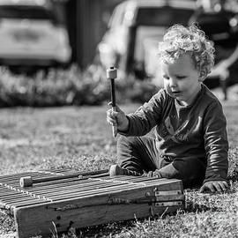 Street Musician In Hermanus by Eva Lechner