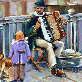 Street musician  by Lana Sylber