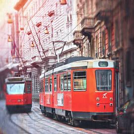 Streetcars of Milan Italy  by Carol Japp