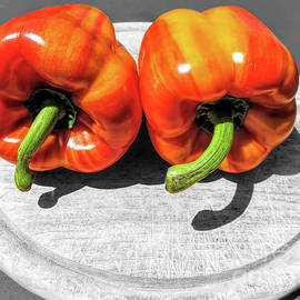 Striped Bell Peppers SC by Elisabeth Lucas