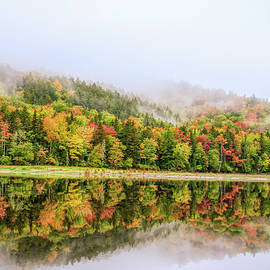 Stunning Autumn Reflections - Magalloway River by Jan Mulherin